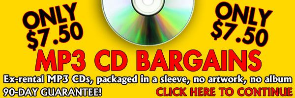 MP3 CD Bargains, only $7.50